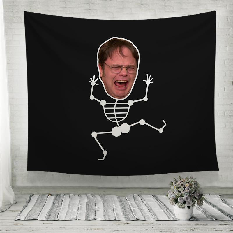 Screaming Funny Dwight Schrute Wall Tapestry