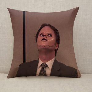 The Office Dwight Schrute Mask Throw Pillow [With Inserts]