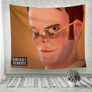The Office Dwight Schrute Fan Art Wall Tapestry