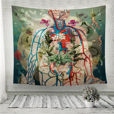 Meat green Wall Tapestry