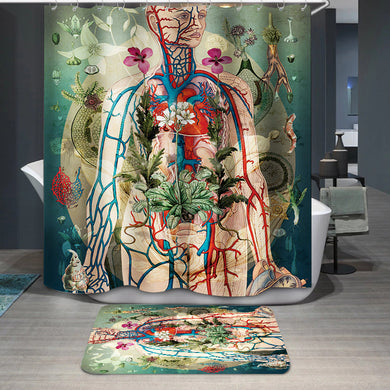 Meat green Shower Curtain