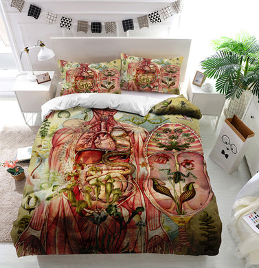 Meat yellow Duvet Cover Bedding Set