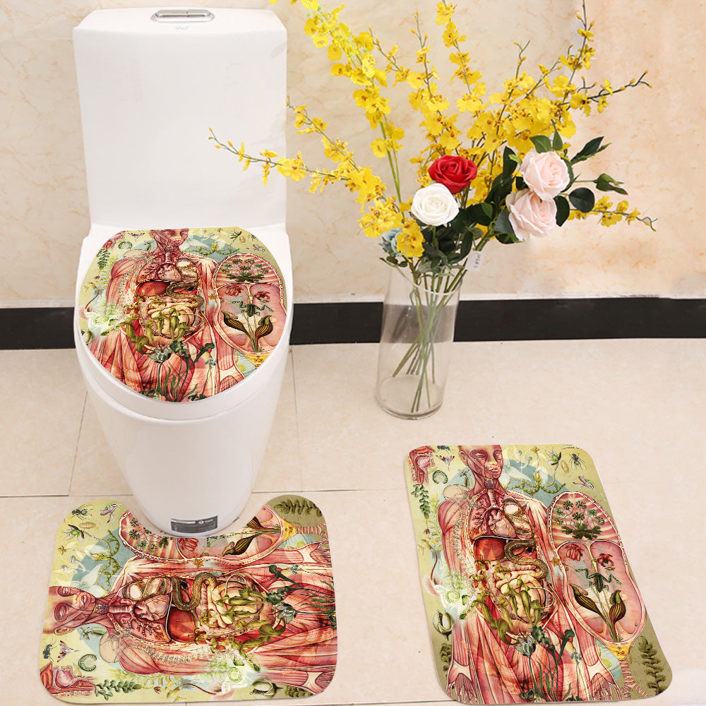 Meat yellow 3 Piece Toilet Cover Set