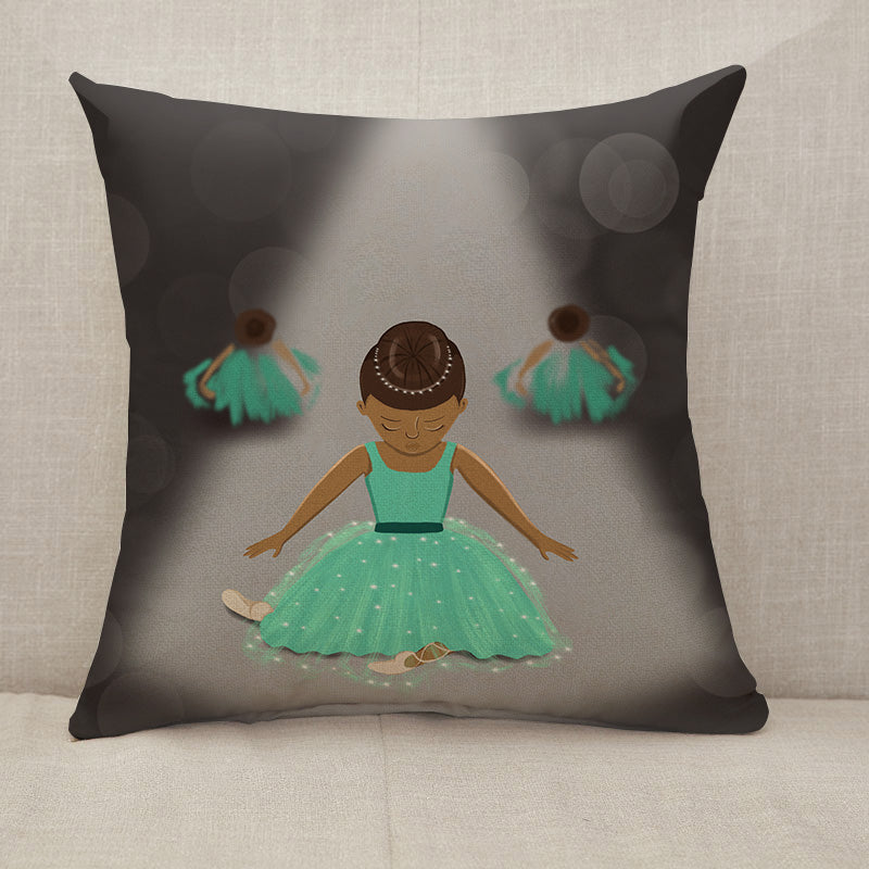 Little dancers Throw Pillow [With Inserts]