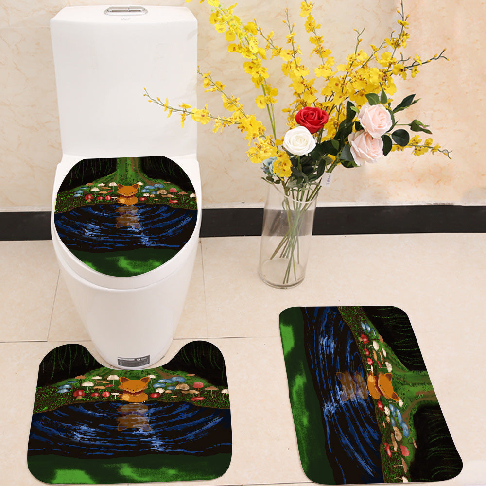 Little fox 3 Piece Toilet Cover Set