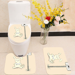 Reading letters 3 Piece Toilet Cover Set