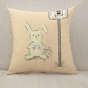 Reading letters Throw Pillow [With Inserts]