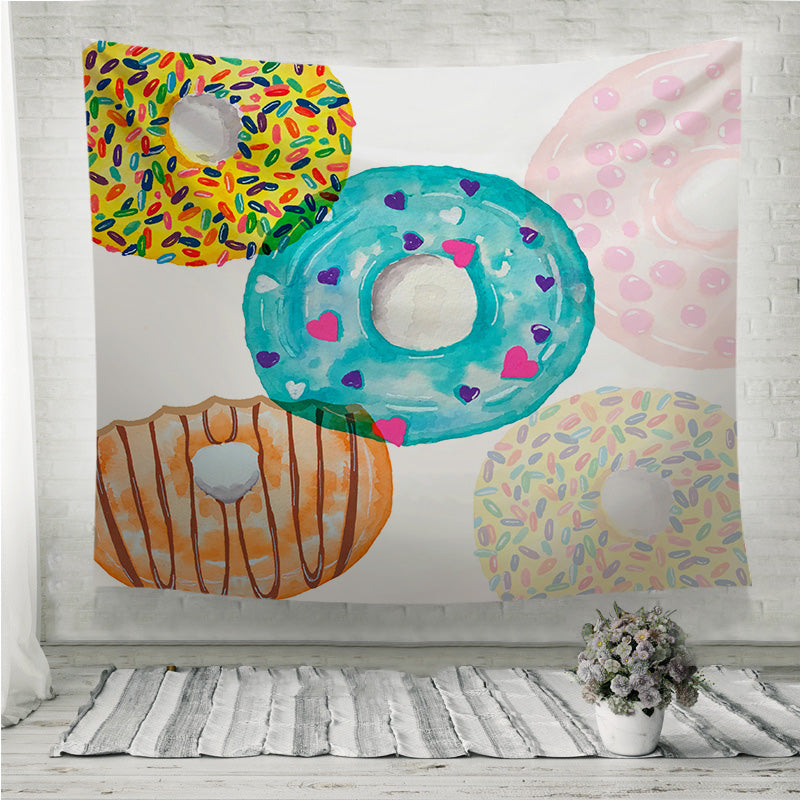 Colorful donut Wall Tapestry