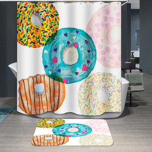 Colorful donut Shower Curtain