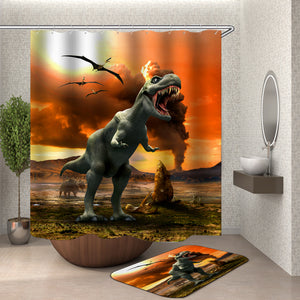Dinosaur Island Shower Curtain