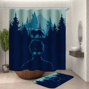 Harry Potter Outline Shower Curtain