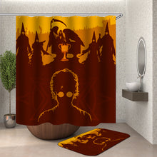 Load image into Gallery viewer, Harry Potter Outline Shower Curtain