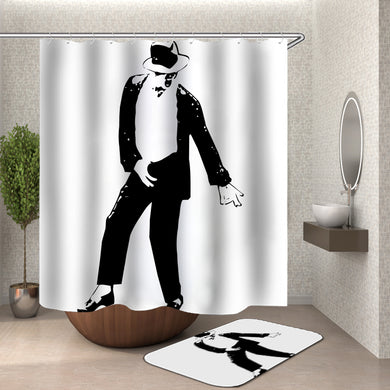 Michael Jackson Black and White Shower Curtain