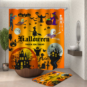 Halloween Pumpkin Shower Curtain