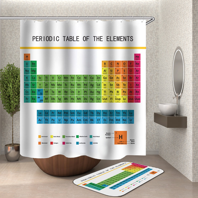 Periodic Table of Elements Shower Curtain