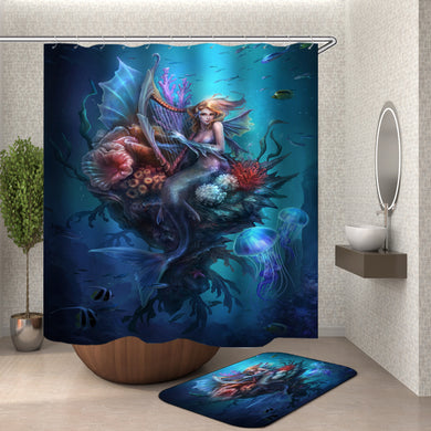 Beautiful Mermaid Undersea Shower Curtain