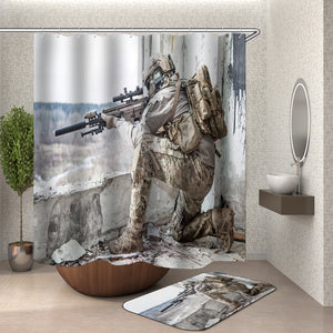 Sniper Shower Curtain