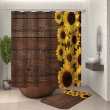 Load image into Gallery viewer, Old Barn Sunflowers Shower Curtain