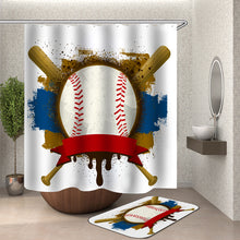 Load image into Gallery viewer, American Baseball Shower Curtain