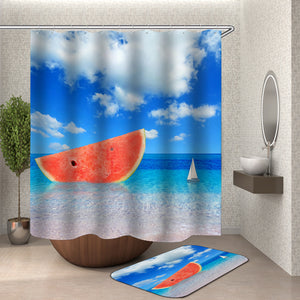 Watermelon Boat Shower Curtain