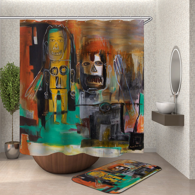 Egyptian Painting Shower Curtain