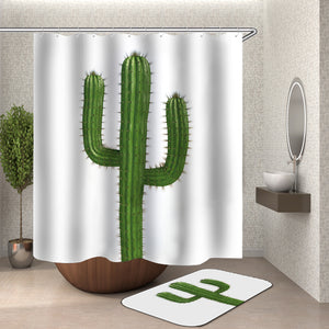 A Cactus Shower Curtain