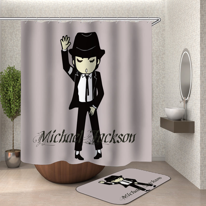 Cartoon Michael Jackson Shower Curtain