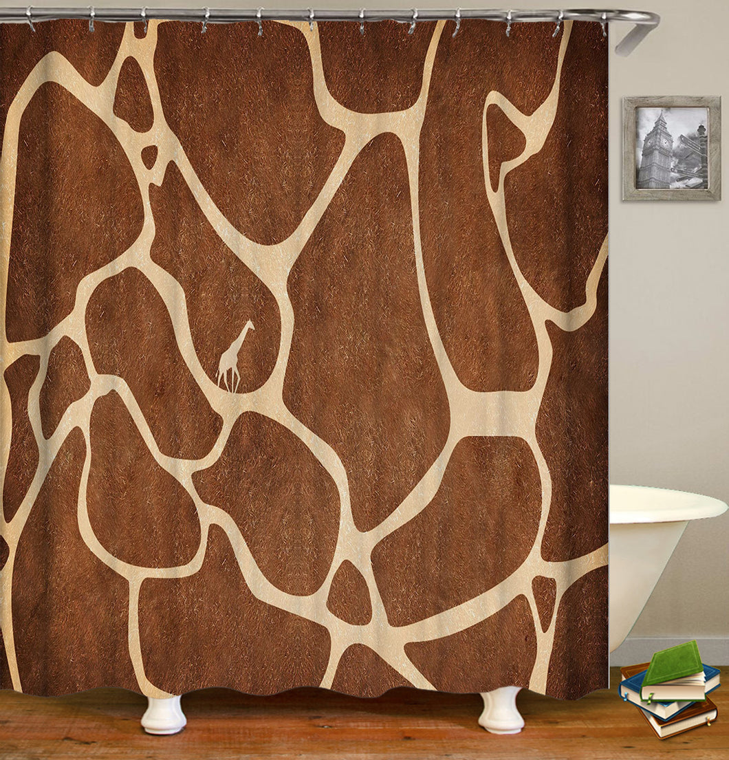 Giraffe Pattern Shower Curtain