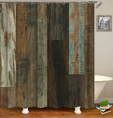 Old Wood Barn Pattern Shower Curtain
