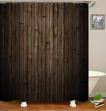 Load image into Gallery viewer, Old Wood Barn Pattern Shower Curtain