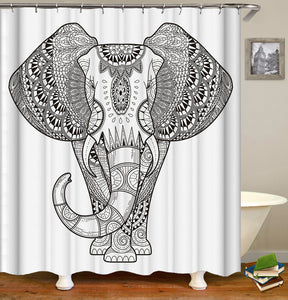 Animal Elephant Shower Curtain