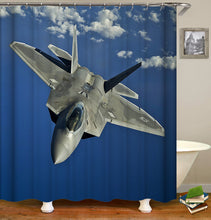 Load image into Gallery viewer, Fighter Plane Shower Curtain