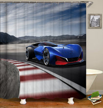 Load image into Gallery viewer, Old Vintage Car Shower Curtain