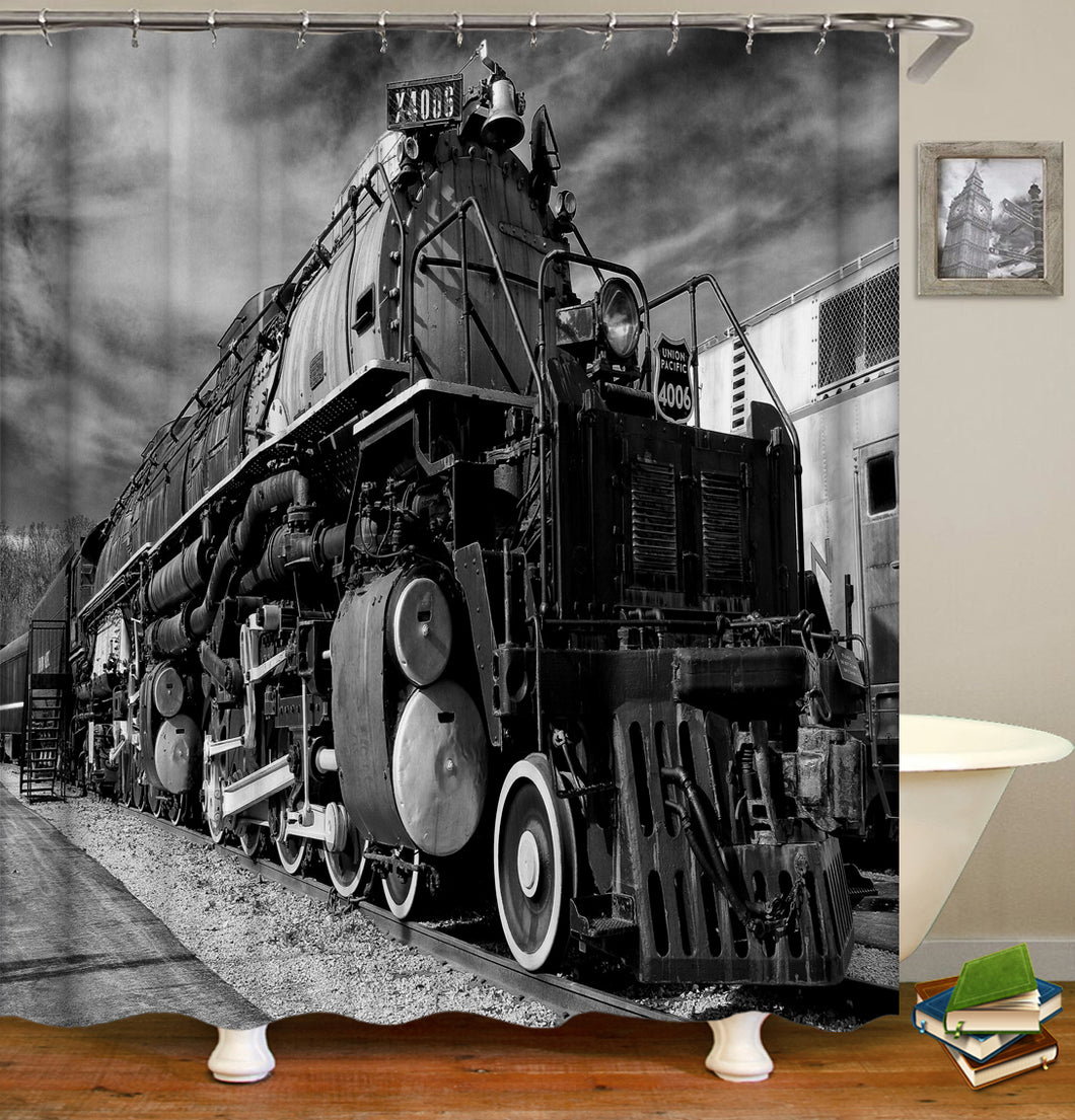 Old Vintage Train Shower Curtain