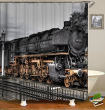 Load image into Gallery viewer, Old Vintage Train Shower Curtain