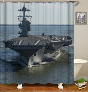 Warship Shower Curtain