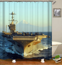 Load image into Gallery viewer, Warship Shower Curtain