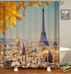 City Building Shower Curtain