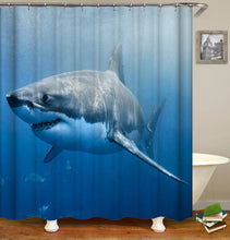 Load image into Gallery viewer, Animal Shark Shower Curtain