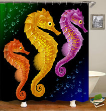 Load image into Gallery viewer, Seahorse Shower Curtain