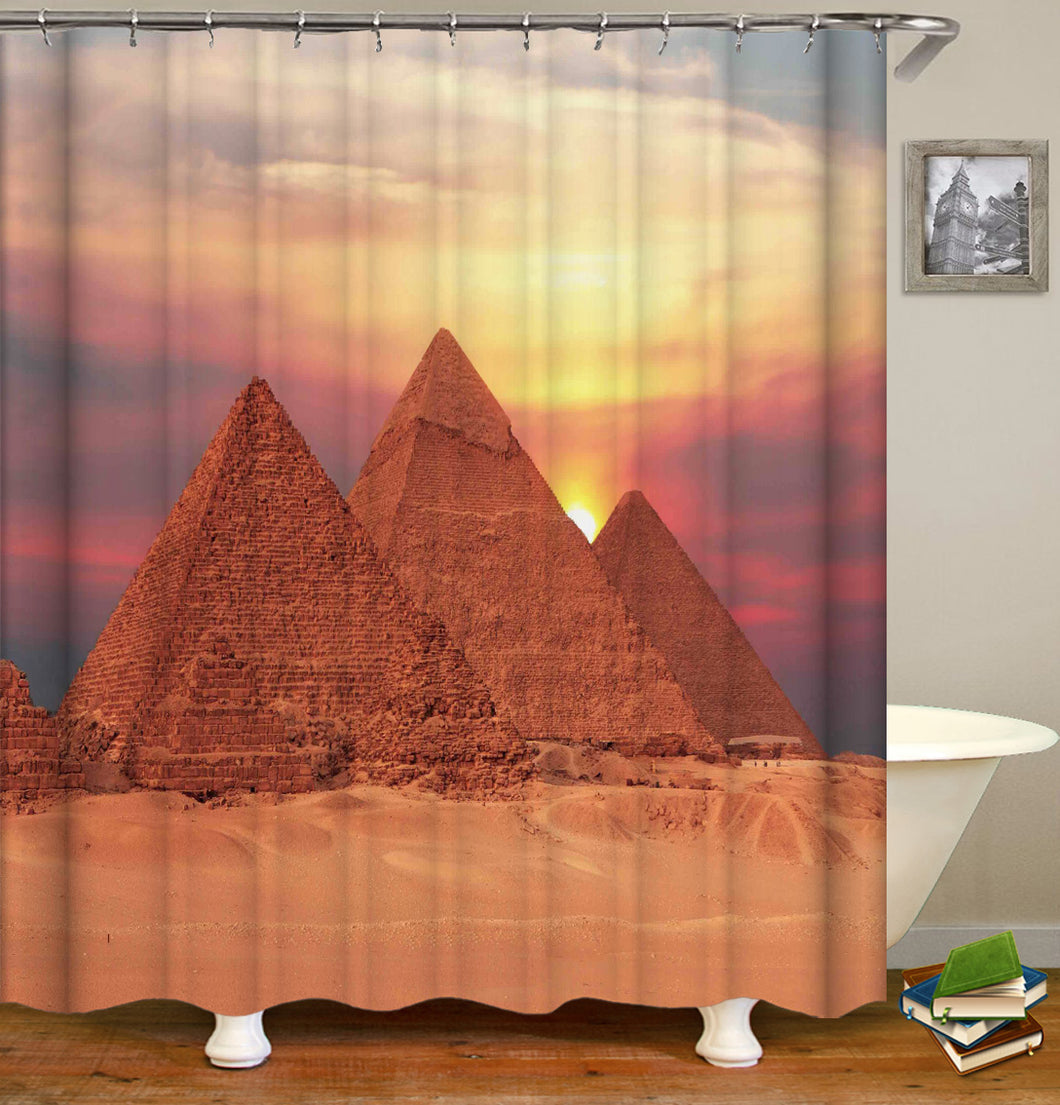 The Pyramid Shower Curtain