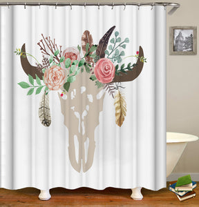 Flower Butterfly Girl Shower Curtain