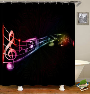 Music and Guitar Shower Curtain