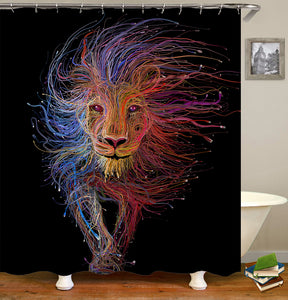 Animal Lion Shower Curtain