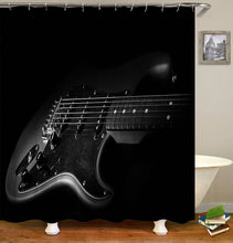 Load image into Gallery viewer, Music and Guitar Shower Curtain