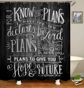 Creative Quotes Plans Shower Curtain