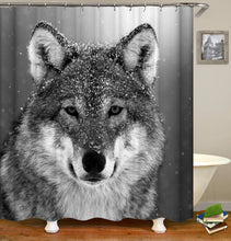 Load image into Gallery viewer, Animal Wolf Shower Curtain