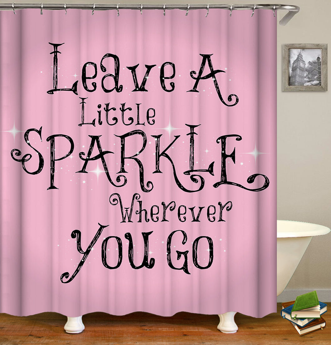 Leave a Little Sparkle Shower Curtain