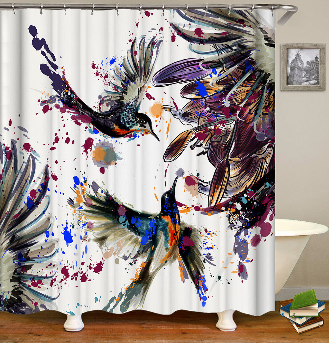 Love Birds Shower Curtain