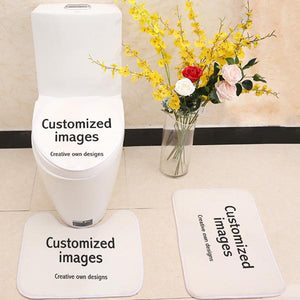 Customized 3 Piece Toilet Cover Set